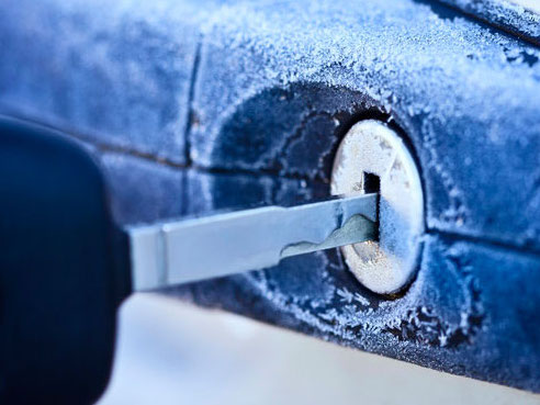 Todo sobre el congelamiento de las cerraduras de coche